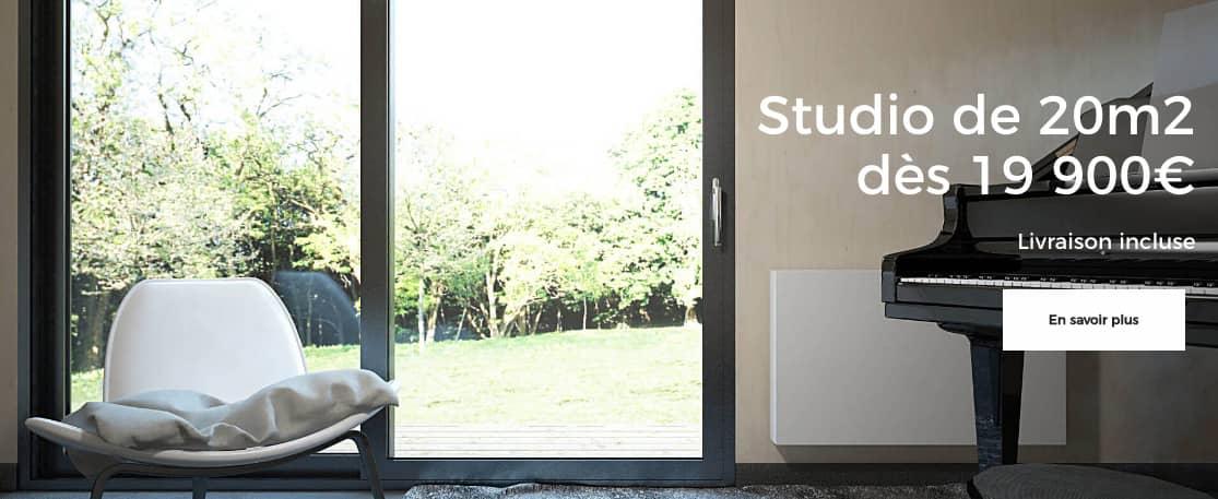 studios de jardin et maisons modulaires en ossature bois. Black Bedroom Furniture Sets. Home Design Ideas