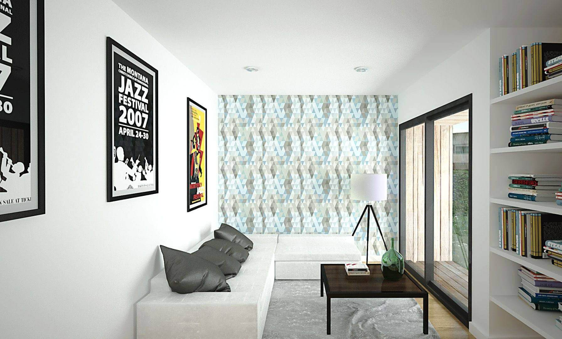 studio jardin bois 20m2 intérieur