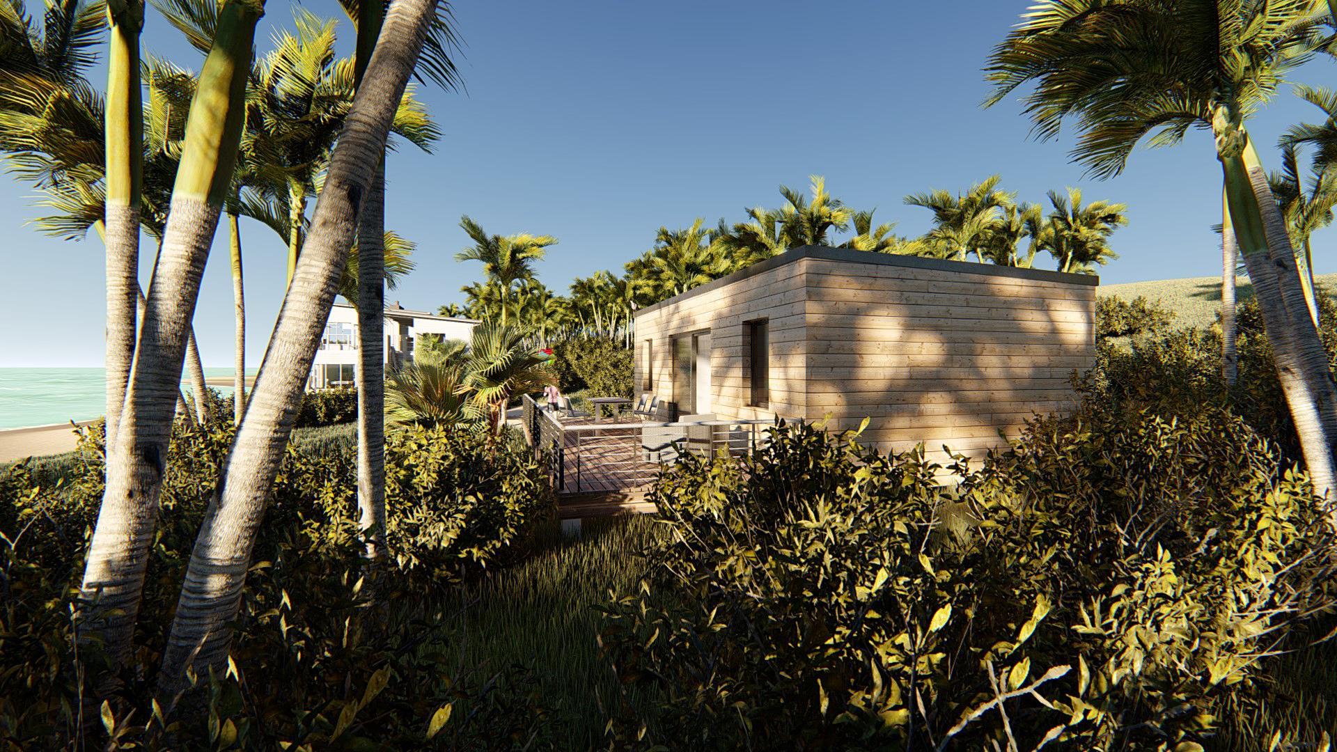 Studio de jardin 45 chalet camping vue vegetation