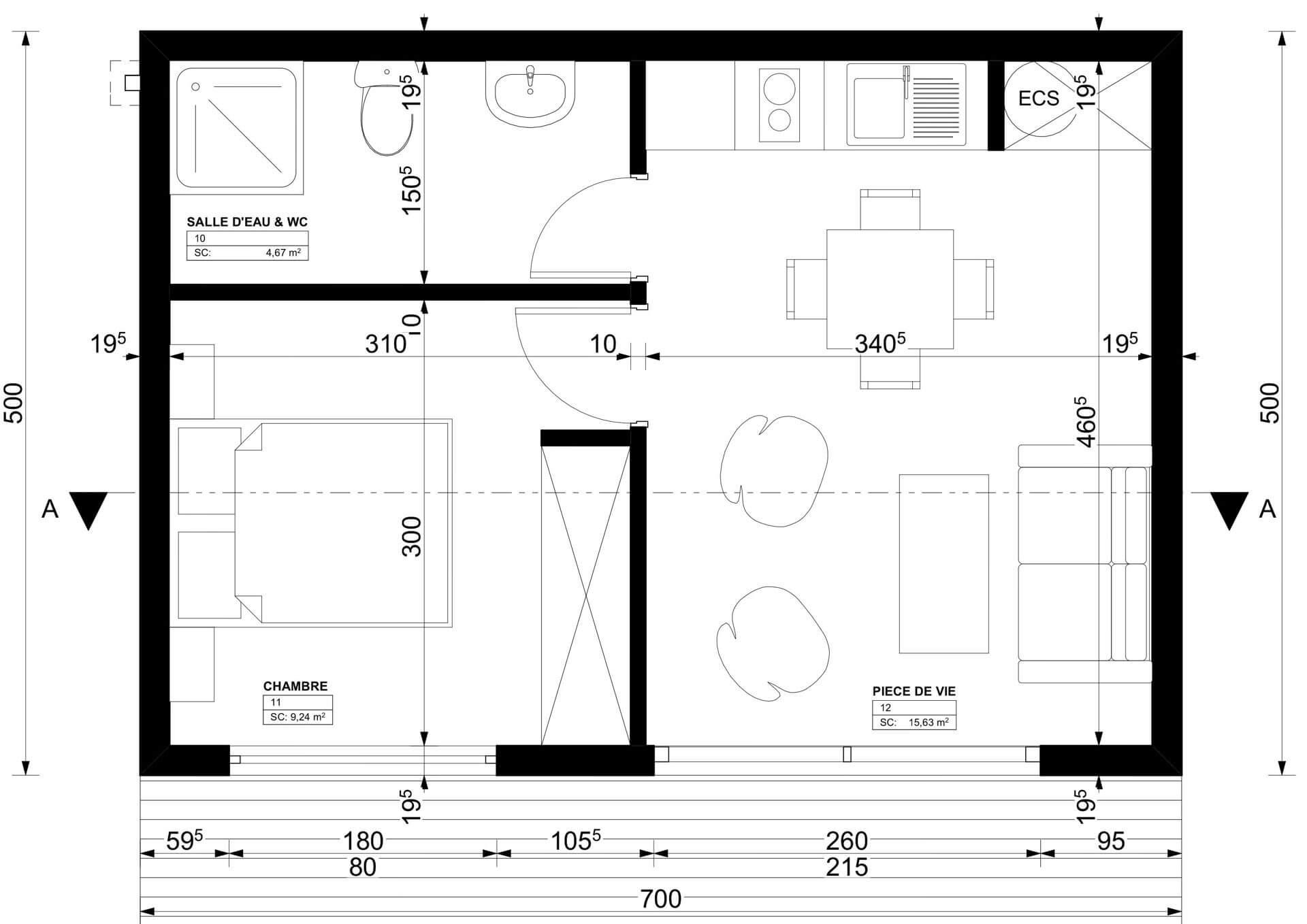 Studio de jardin 35m2