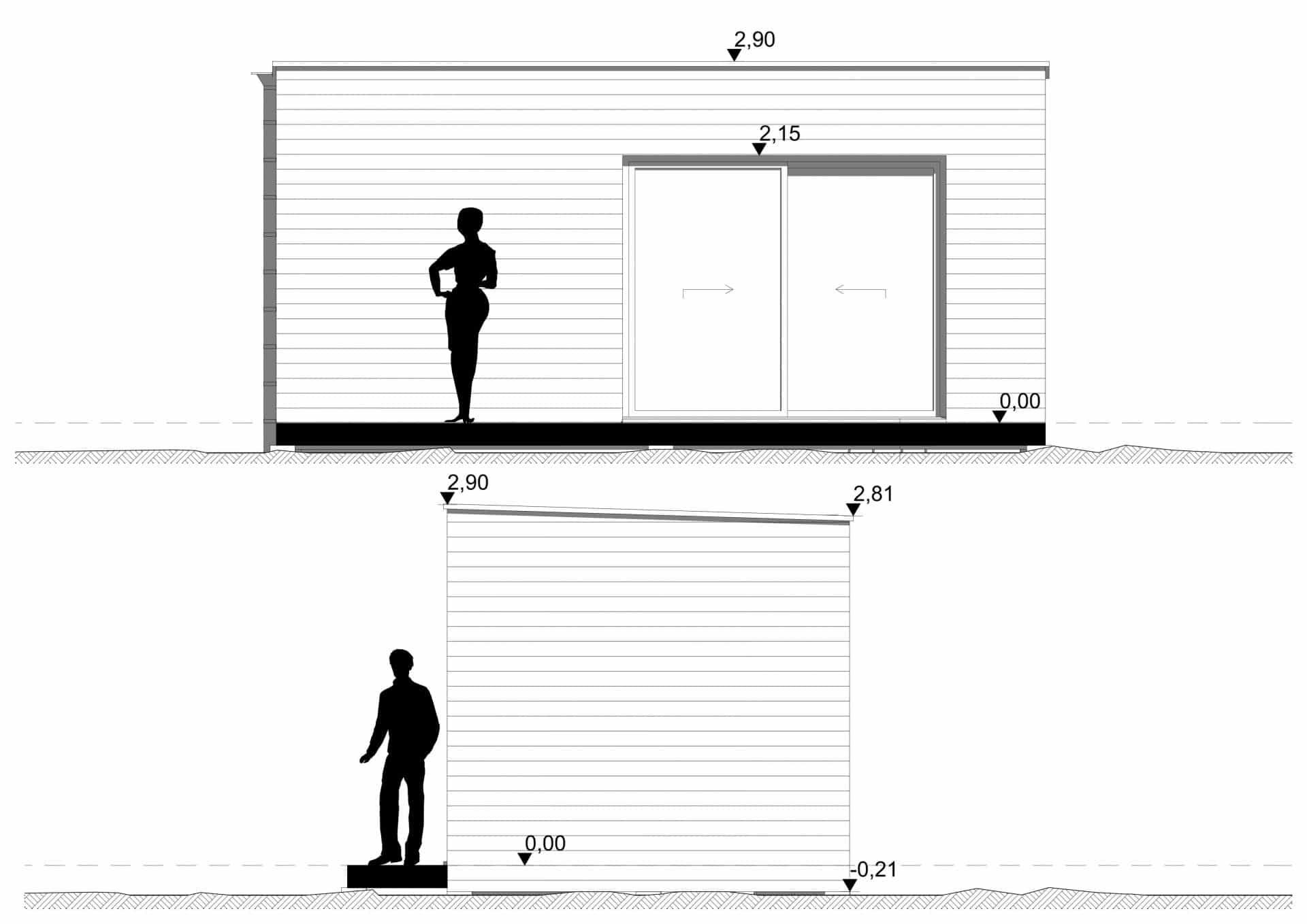 Studio de jardin 20m2 façades