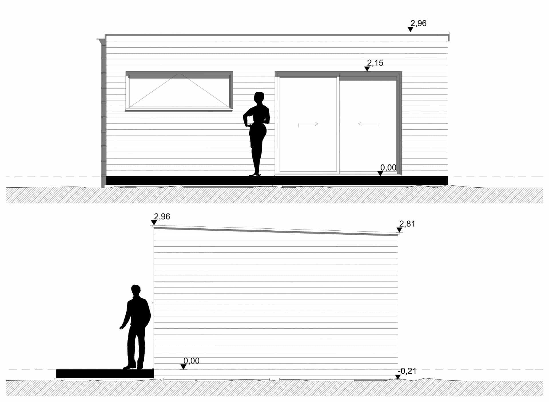 Studio de jardin 35m2 façades