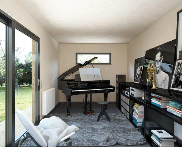 Studio de jardin en tant que home studio