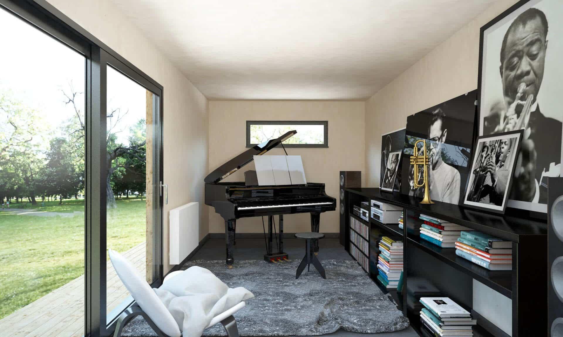 studio de jardin en tant que home studio studios de jardin et maisons cologiques en bois. Black Bedroom Furniture Sets. Home Design Ideas