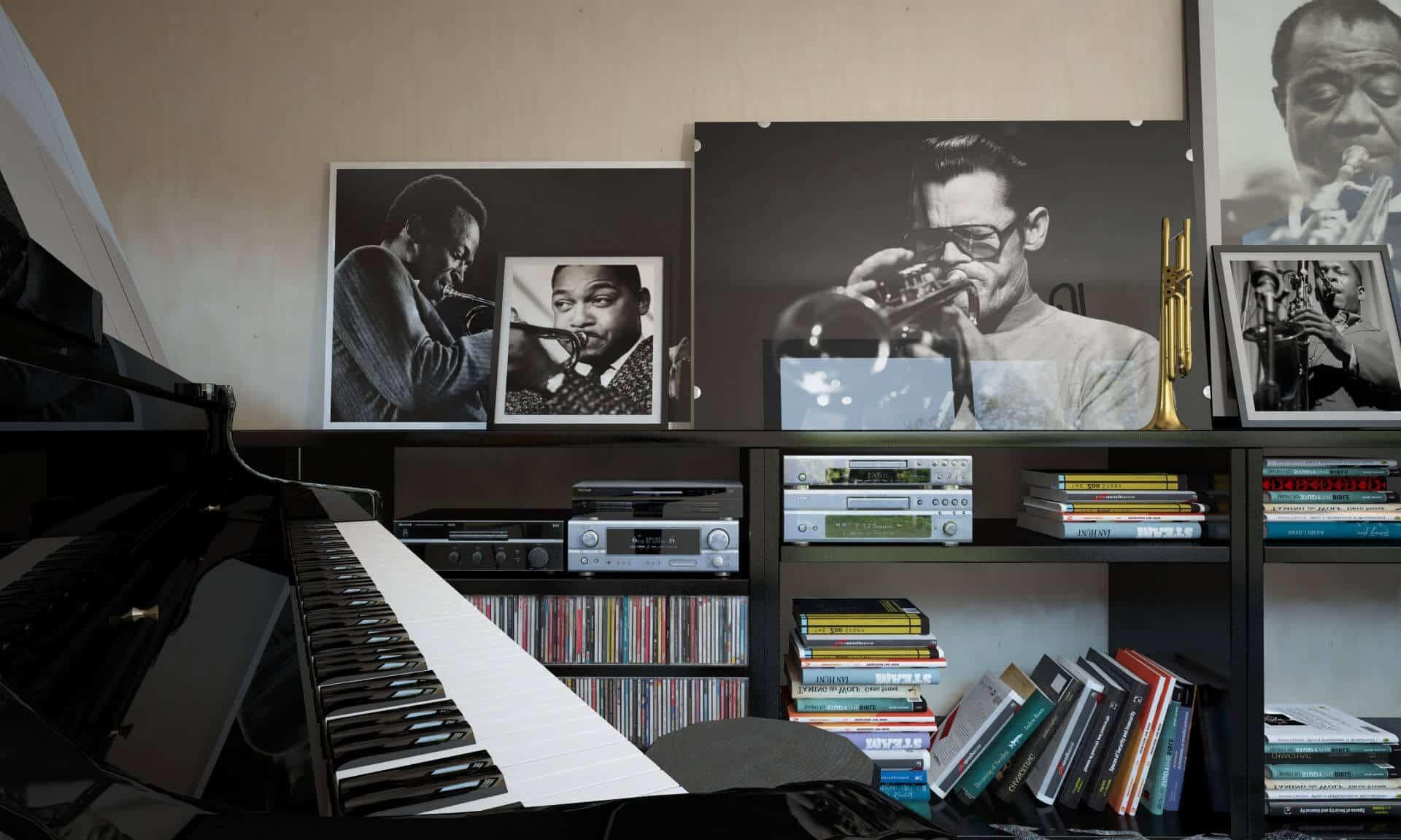 studio de jardin musicien 20m2
