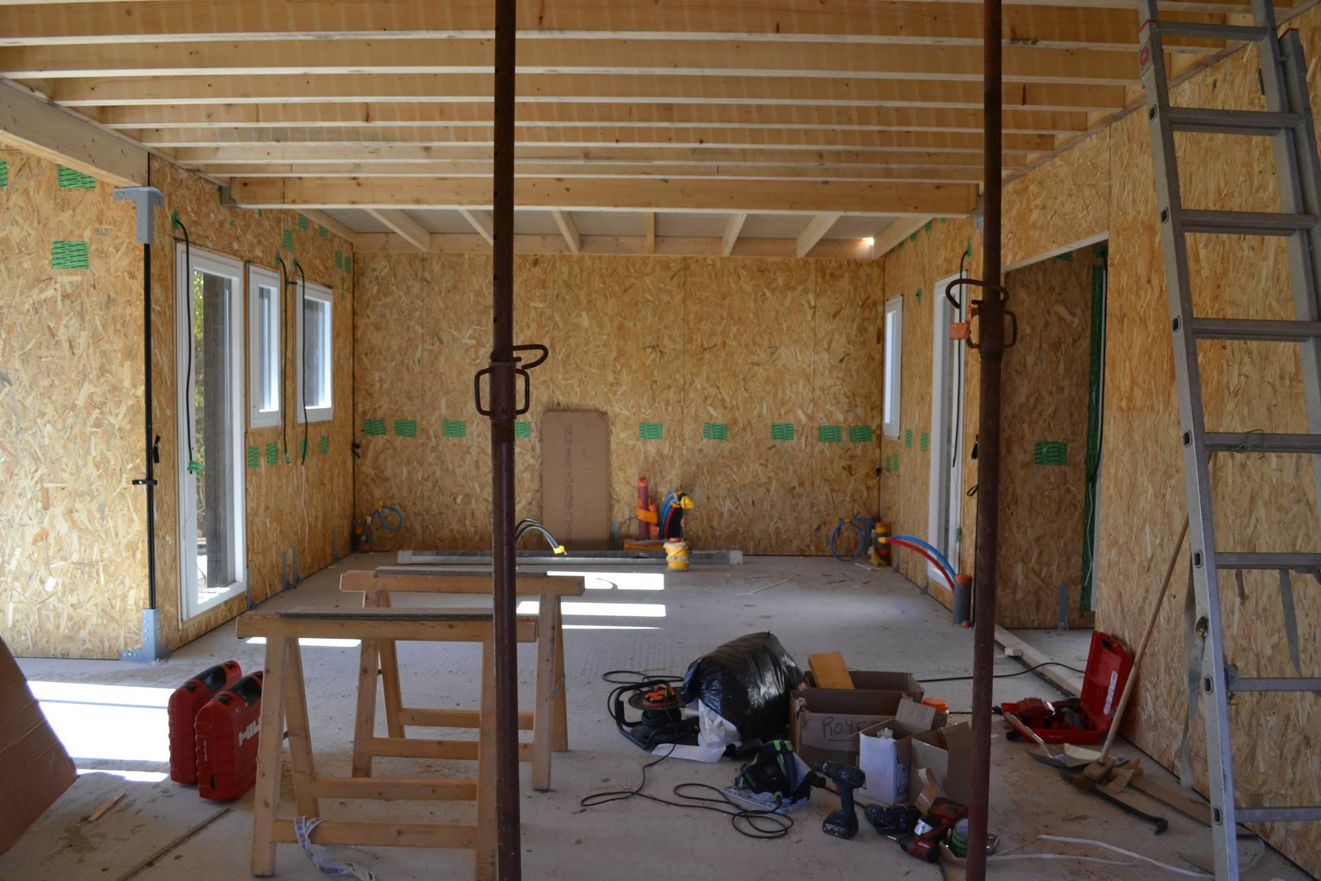 Interieur maison bois ecologique