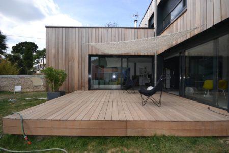Maison ossature bois bioclimatique pornichet
