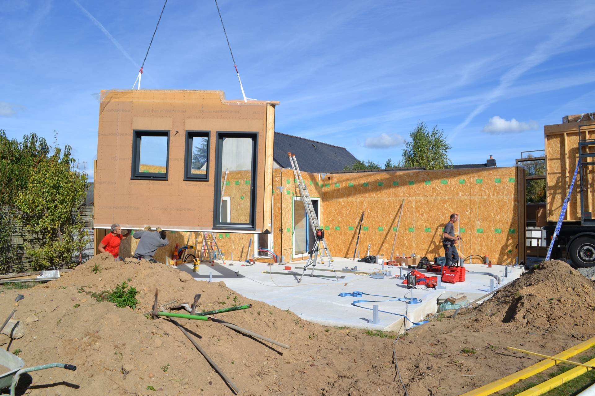 Montage maison bois ecologique