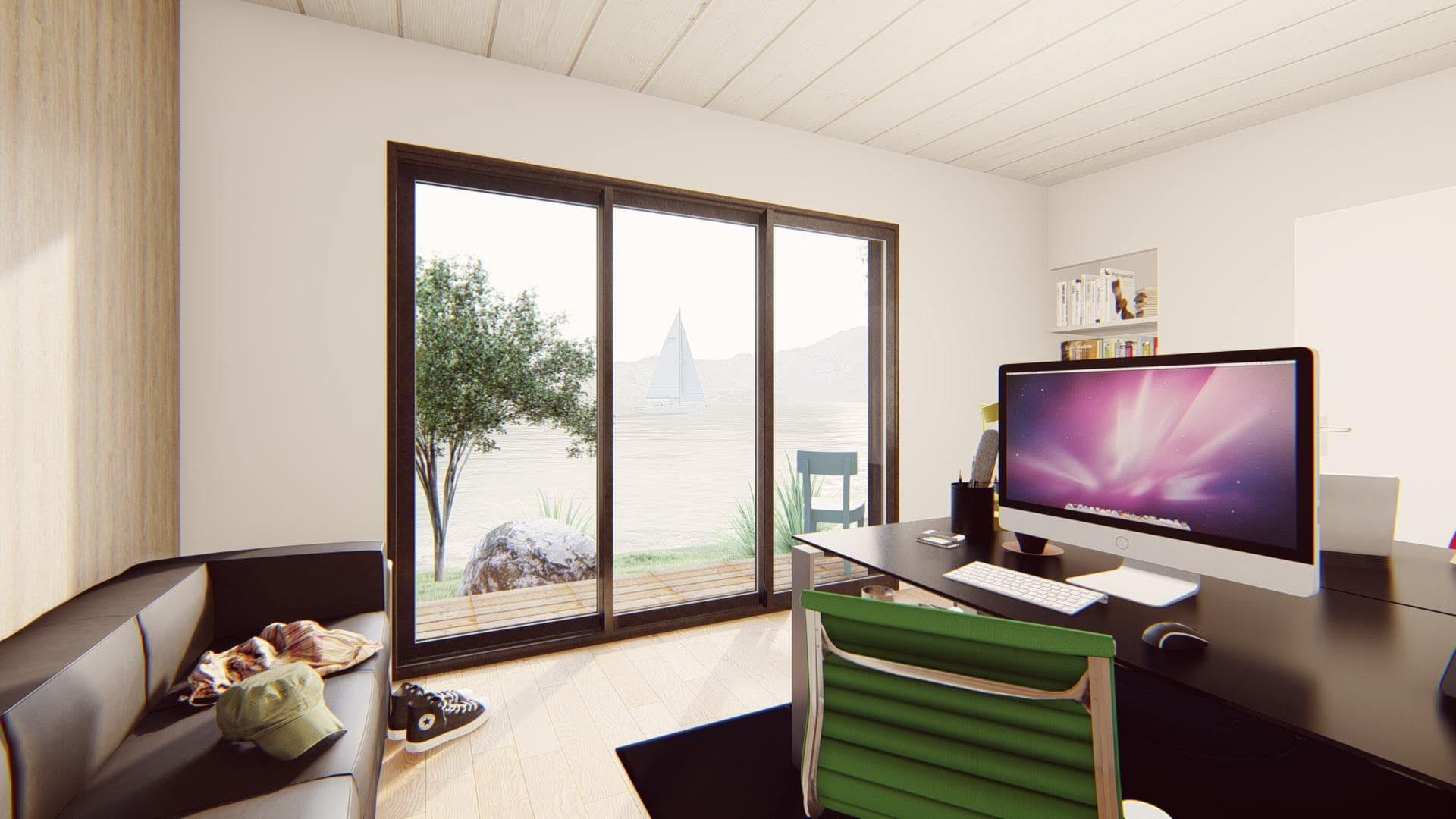 bureau de jardin 20 m2 vue interieure 1