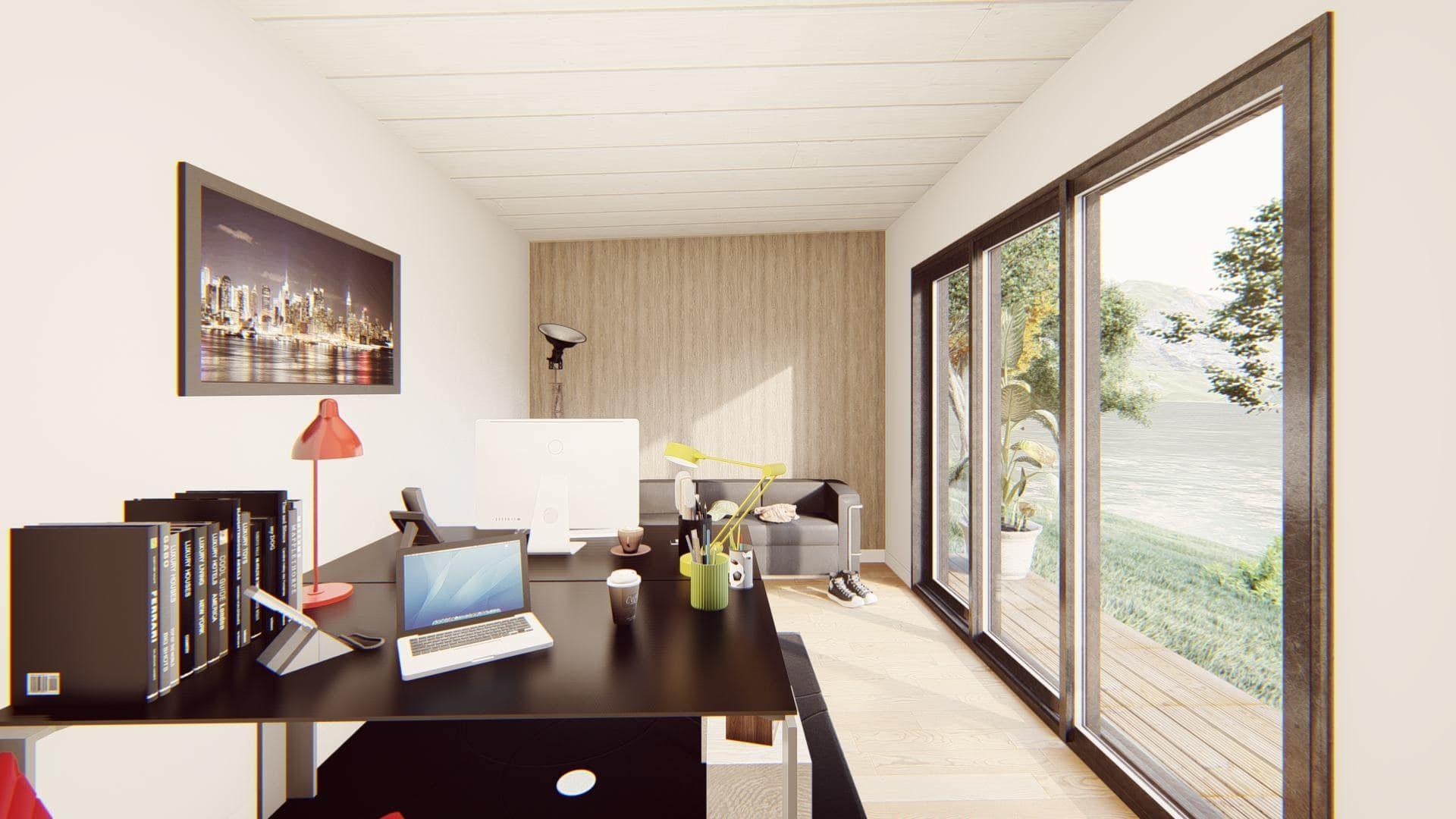 bureau de jardin 20 m2 vue interieure 3