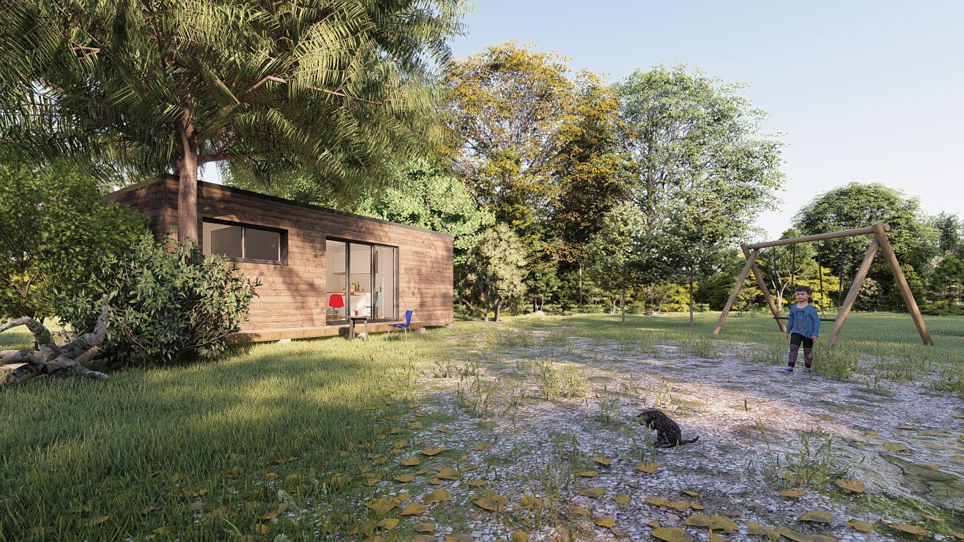 studio de jardin 35m2 vue cote