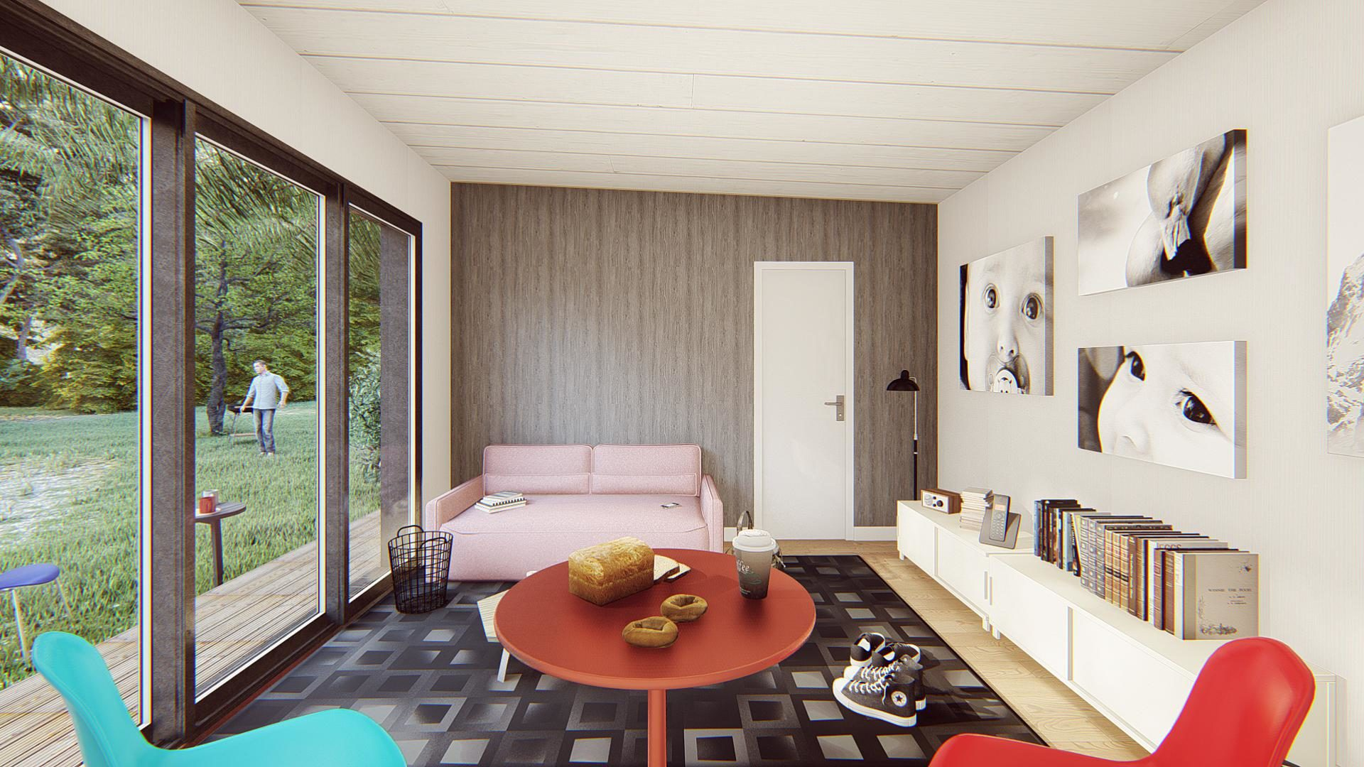 studio de jardin 35m2 vue interieure