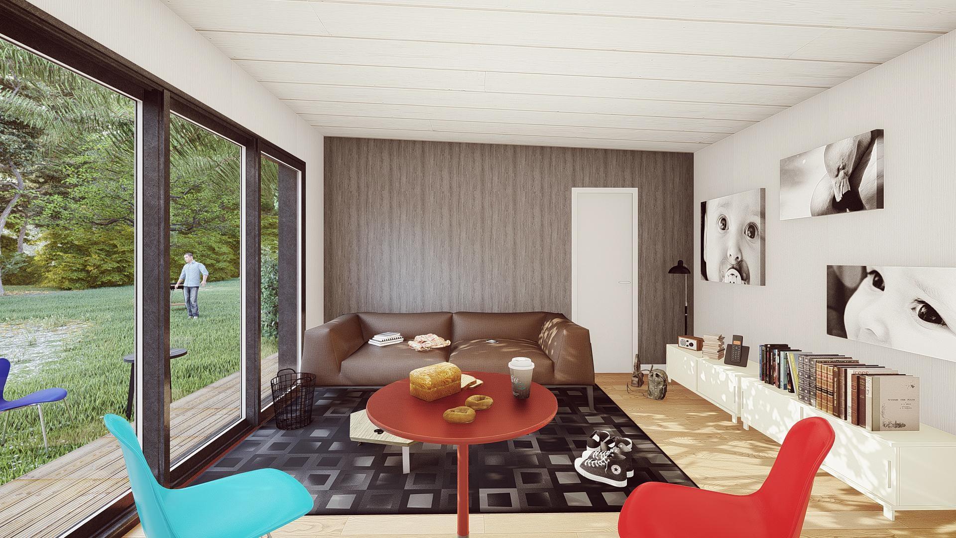studio de jardin 50 m2 interieur salon