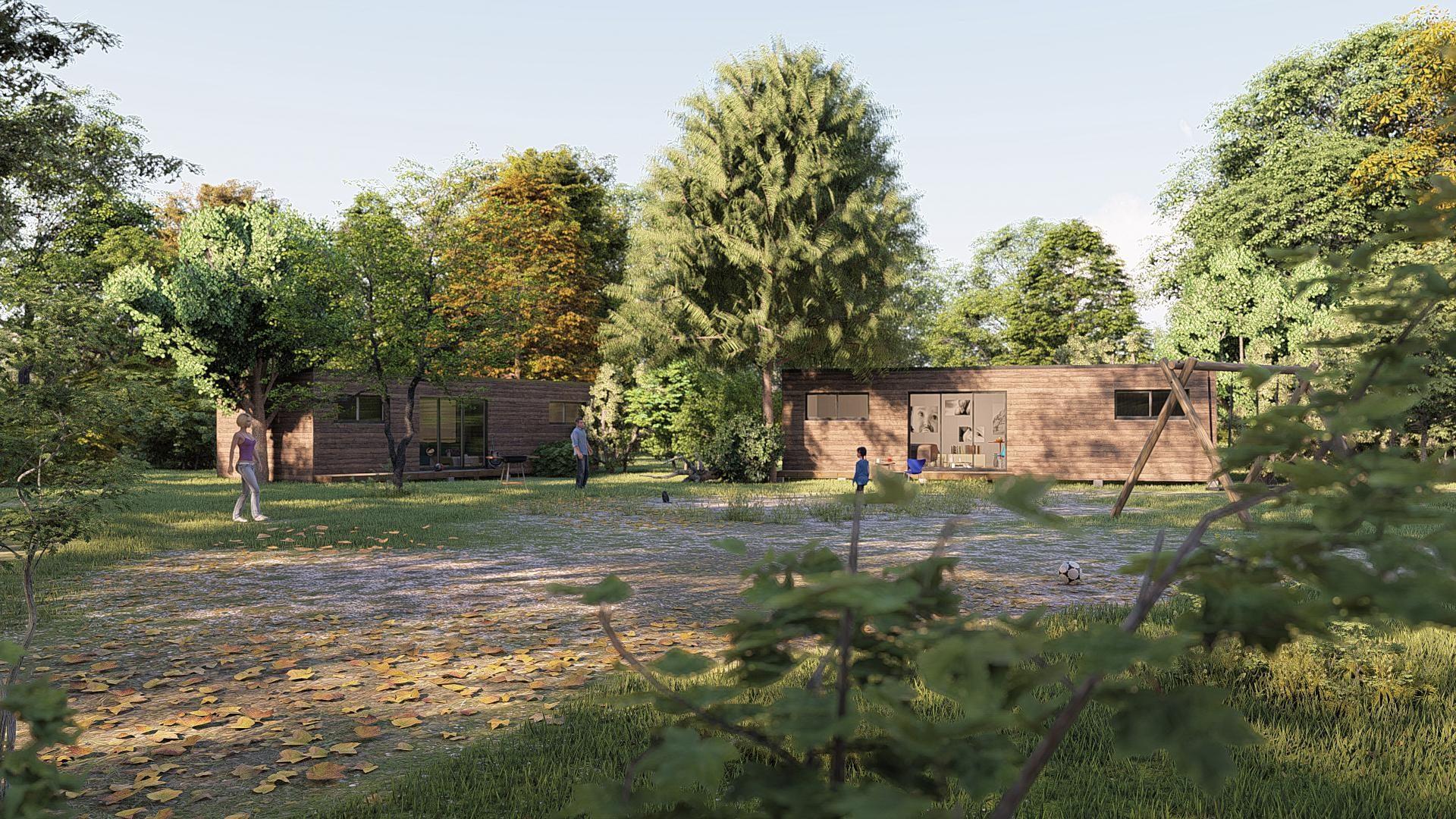 studio de jardin 50m2 vue face