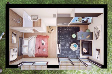 plan studio de jardin 25m2 en bois pres de nantes