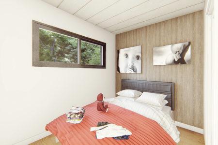 studio de jardin 25m2 en bois nantes vue sur chambre