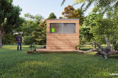 studio de jardin 5m2 en bois sans autorisations
