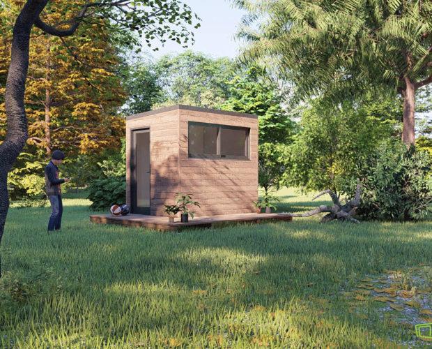 Bureau de jardin de 5m2 sans autorisation administrative, c'est possible!