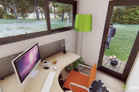 studio de jardin 5m2 vue interieure
