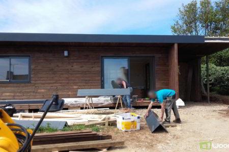 chantier studio de jardin en bretagne