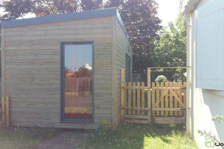 bureau de jardin ossature bois